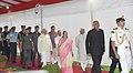The Prime Minister, Shri Narendra Modi at the farewell ceremony of the President, Shri Pranab Mukherjee, at Central Hall of the Parliament, in New Delhi.jpg