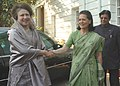 The Prime Minister of Bangladesh, Ms. Khaleda Zia calls on the Chairperson of the National Advisory Council, Smt. Sonia Gandhi, in New Delhi on March 21, 2006.jpg