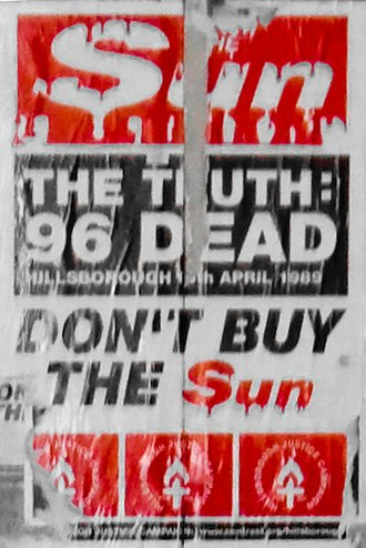 The Sun (United Kingdom) - Poster urging the Liverpool public not to purchase The Sun.