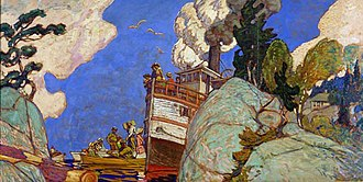 J. E. H. MacDonald - Image: The Supply Boat Mac Donald