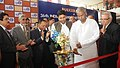 The Union Minister for Textiles, Dr. Kavuru Sambasiva Rao lighting the lamp to inaugurate the Indian Handicrafts & Gifts Fair (Autumn) 2013, at Greater Noida, Uttar Pradesh on October 15, 2013.jpg