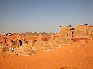 Wadi es-Sebua - A picture of Wadi es-Sebua temple in Nubia