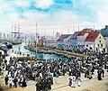 The fish market in Bergen, ca 1915. (3612862285).jpg