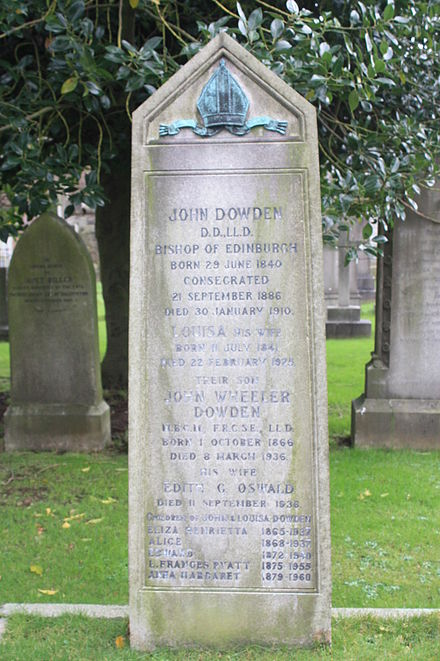 The grave of Bishop John Dowden, Dean Cemetery, Edinburgh The grave of Bishop John Dowden, Dean Cemetery, Edinburgh.jpg