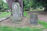 The grave of McTaggart and his wife, alongside his daughter, Newington Cemetery.JPG