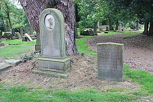 William McTaggart - The grave of McTaggart and his wife, alongside his daughter, Newington Cemetery
