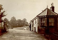 The original wooden toll bridge at Tuckton, built in 1882-3 and replaced by the present structure in 1905