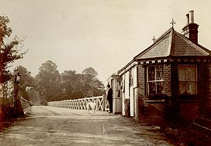 Tuckton - The original wooden bridge at Tuckton