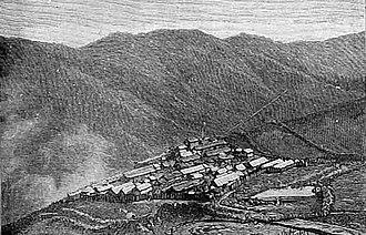 Sikkim expedition - The stockade at Gnathong