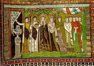 Early Middle Ages - Theodora, Justinian's wife, and her retinue