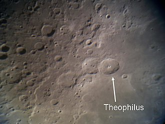 Theophilus (crater) - Location of Theophilus