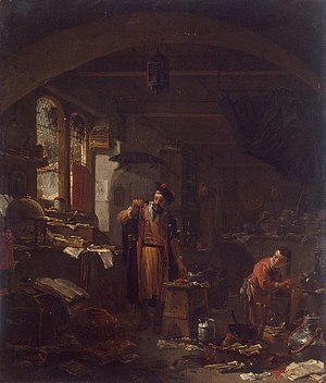 The Alchemist Discovering Phosphorus - The Alchemist by Thomas Wijck