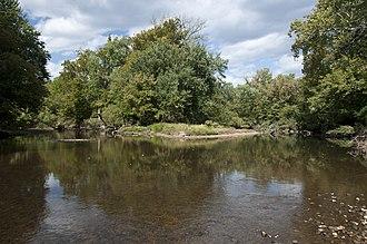 Big Walnut Creek - The confluence of Big Walnut Creek and Alum Creek at Three Creeks Metro Park