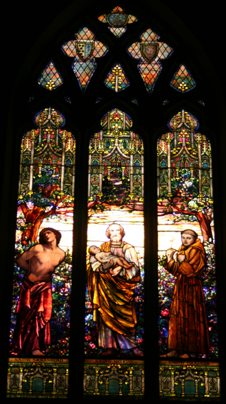 St. James Episcopal Church (New London, Connecticut) - Lawrence Memorial Window by Tiffany Studios, New York