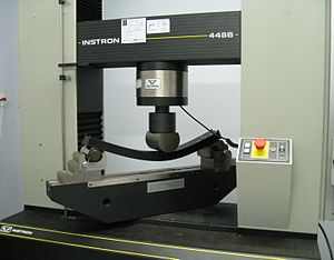 Universal testing machine - Test fixture for three point flex test