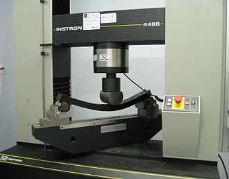 Physical test - Image: Three point flexural test