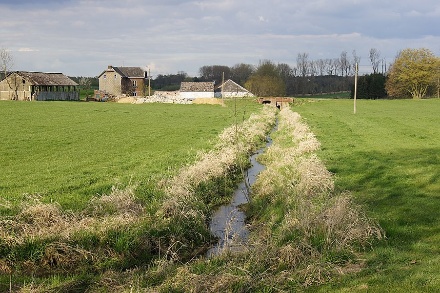 Sart-Dames-Avelines,  Belgium: The river Thyle close to the Namur Road N93