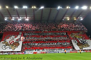 Standard Liège - Standard fan group, Ultras Inferno 96, celebrating their 15-year anniversary in July 2012.