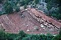 Tilted redbeds (Kayenta Formation, Upper Triassic-Lower Jurassic; Kolob Canyons area, Zion National Park, Utah, USA) 1 (8423910933).jpg
