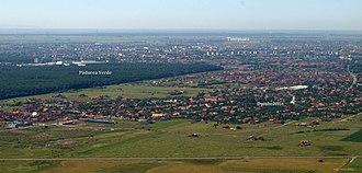 Dumbrăvița, Timiș - Aerial photograph