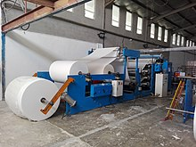 Tissue Converting and Production Machine in action