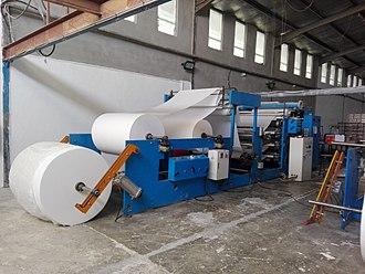 Tissue paper - Image: Tissue Paper Production Machine