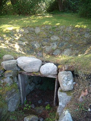 Tar - Tar kiln at Trollskogen in Öland, Sweden.