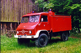 Unimog 404 - Unimog 404.1 based German fire engine TLF 8/8