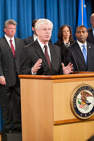 Tom Miller (politician) - Tom Miller speaking at a department of justice press event.