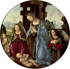 Virgin Adoring the Christ Child with St. John the Baptist and Two Angels
