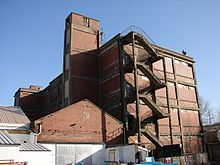 Brick factory building.