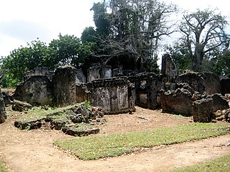 Sub-Saharan Africa - The Tongoni Ruins south of Tanga in Tanzania