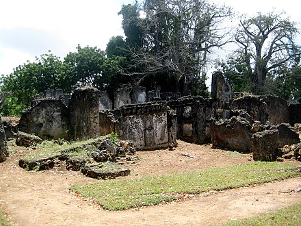 The Tongoni Ruins south of Tanga in Tanzania Tongoni Ruins.jpg