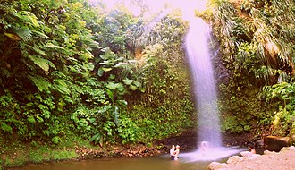Tourism in Saint Lucia - Toraille Waterfall is a popular attraction.