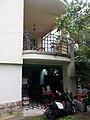 Torockó utca 6B, balcony and scooter, 2019 Pasarét.jpg