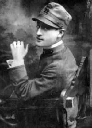 Totò - Totò as a soldier in 1918.