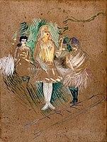 Toulouse-Lautrec - AUX FOLIES-BERGERE, TROIS FIGURANTES, 1894, MTL.166.jpg