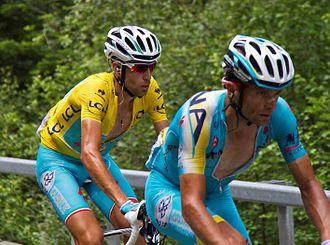 2014 Tour de France - Image: Tour de France 2014, nibali en scarponi (14866646091)