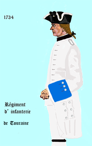 Fort Knokke - Touraine Regt. 1734