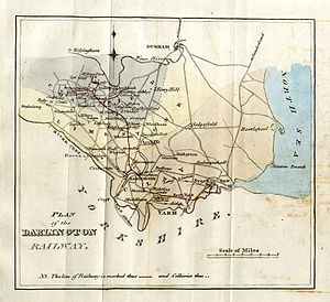 Stockton and Darlington Railway - Image: Tracts vol 57 p 252 1821 Plan of intended Stockton and Darlington Railway