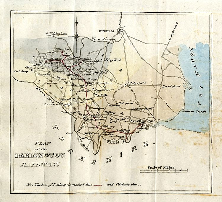 within 1821 Stockton and Darlington Railway report