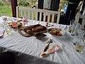 Traditional Bulgarian cuisine in Dorkovo village.jpg