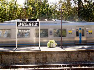 Belair, South Australia - Passenger train arriving at Belair train station