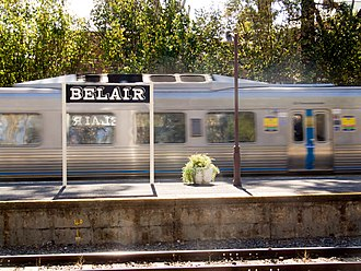 Belair, South Australia - Passenger train arriving at Belair train station
