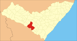 Location of Traipu in the State of Alagoas