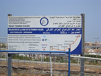 Geographical distribution of French speakers - Bilingual sign in Algiers
