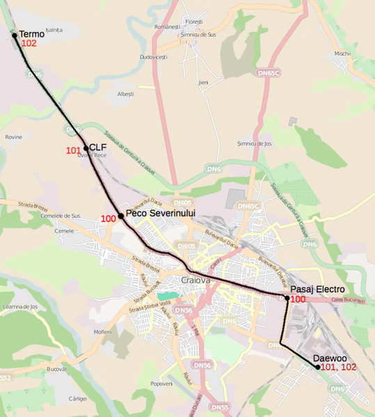 FileTram map of Craiovaxcf Wikimedia Commons