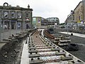 Tram works at Haymarket railway station, Edinburgh.jpg