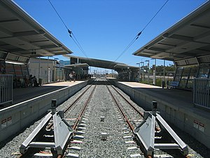 Mandurah railway station - Northbound view in December 2007