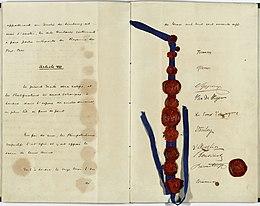 Het Verdrag van Londen, met handtekeningen